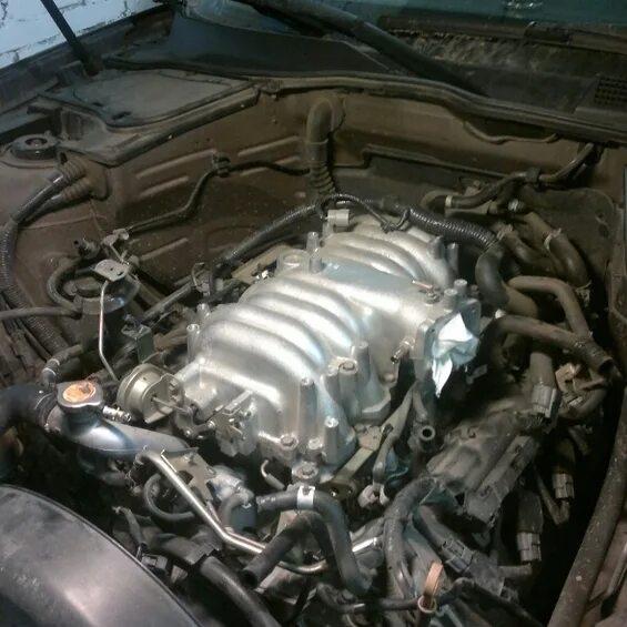 Замена термостатов на Infiniti FX45 (1gen) фото