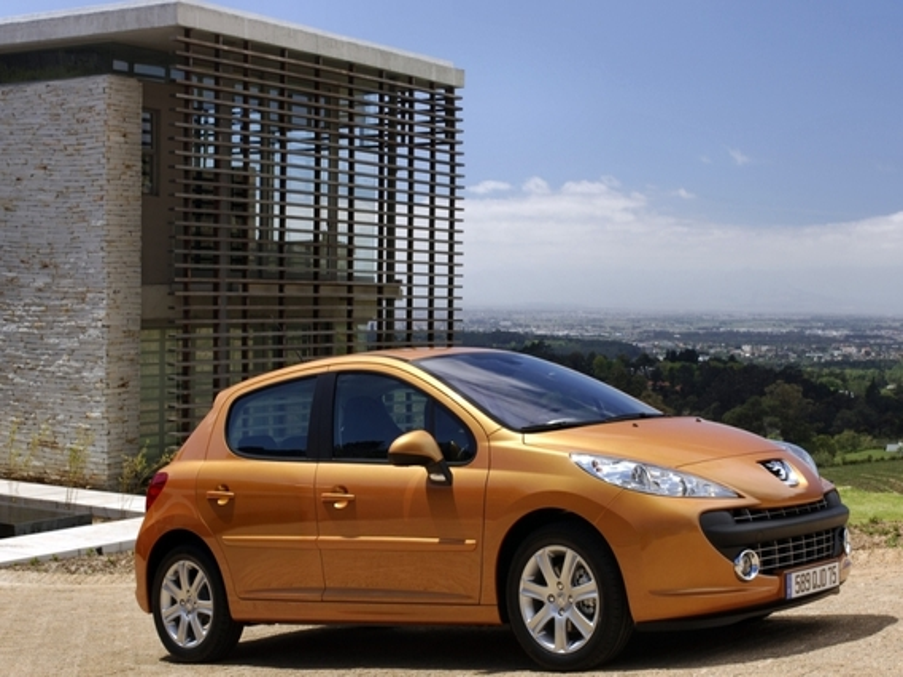 На Peugeot 207 нет ни передних, ни задних брызговиков