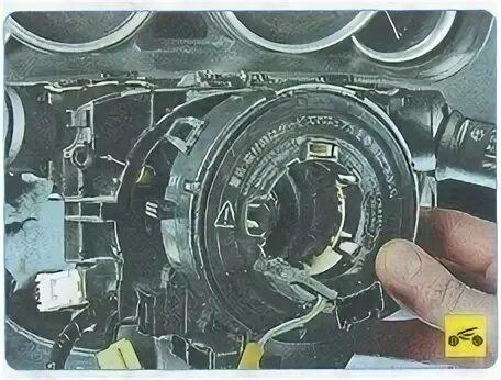 Демонтаж спирального контакта рулевого колеса Mazda 6 II