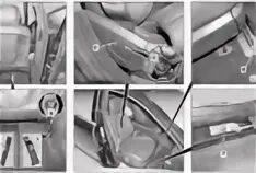 Снятие переднего сиденья Mercedes-Benz S-klasse (W221)
