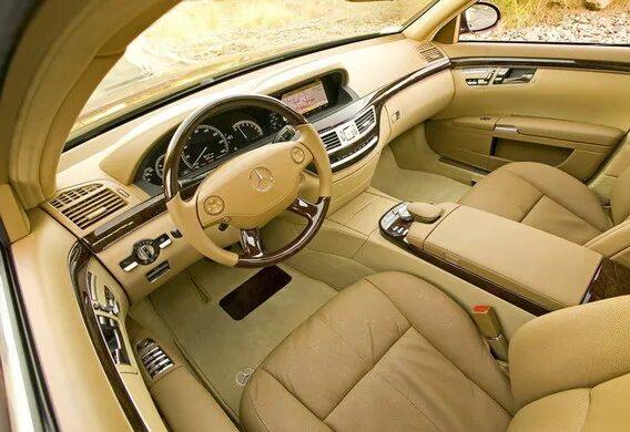 Расположение подушек безопасности на Mercedes-Benz S-klasse (W221)