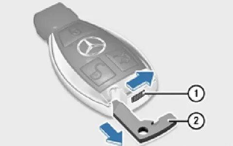 Замена батарейки в брелоке Mercedes-Benz S-klasse (W221)