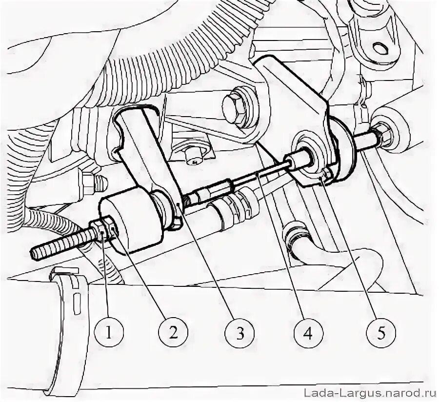 Регулировка троса привода сцепления на Lada Largus фото