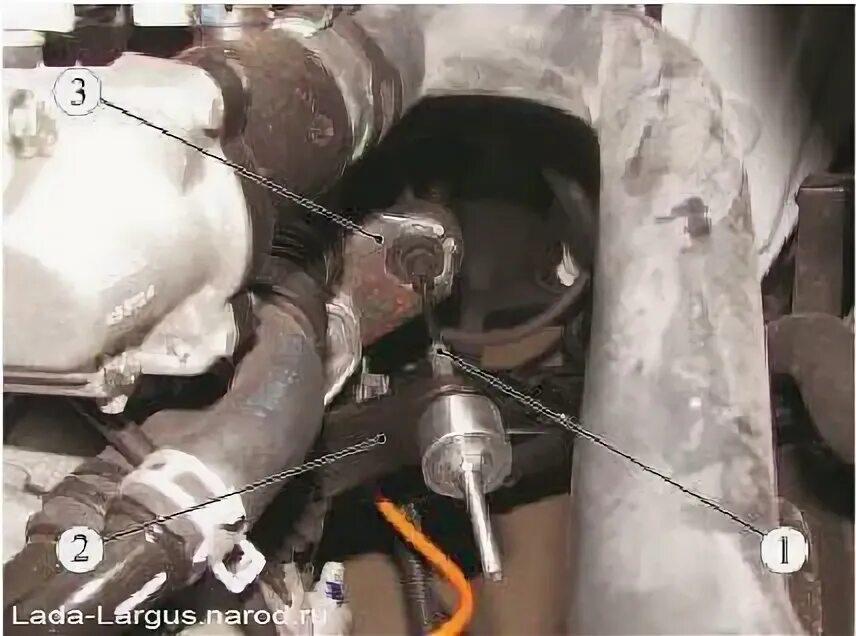 Снятие троса привода сцепления на Lada Largus
