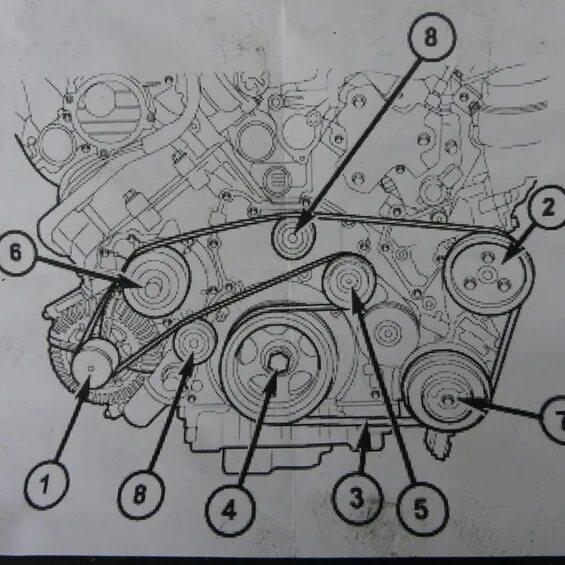 Замена приводного ремня на Jeep Grand Cherokee WK фото