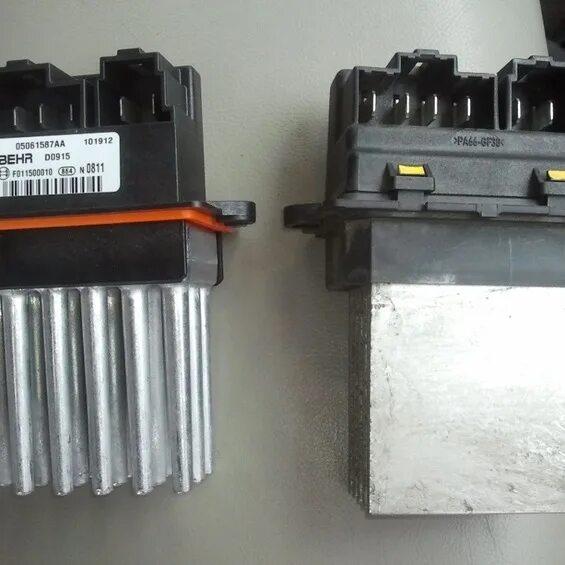 Замена модуля вентилятора печки на Jeep Grand Cherokee WK фото