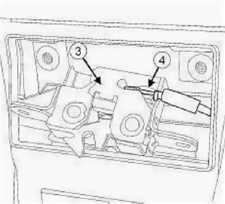 Замена замка капота на Renault Fluence фото
