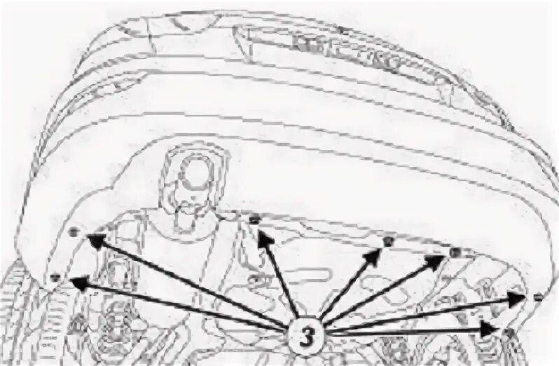 Снятие переднего бампера на Renault Fluence
