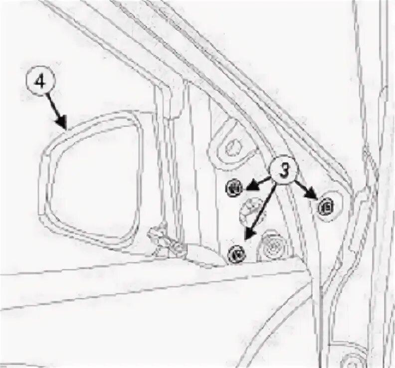 Снятие наружных зеркал на Renault Fluence фото