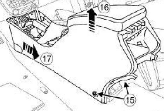 Как разобрать центральную консоль на Renault Fluence