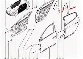 Замена механических стеклоподъемников задней двери на Renault Fluence