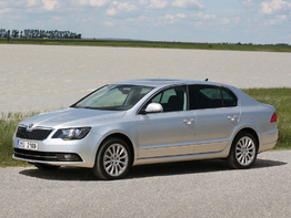Skoda Superb II поколение рестайлинг 2013-2015 седан 5