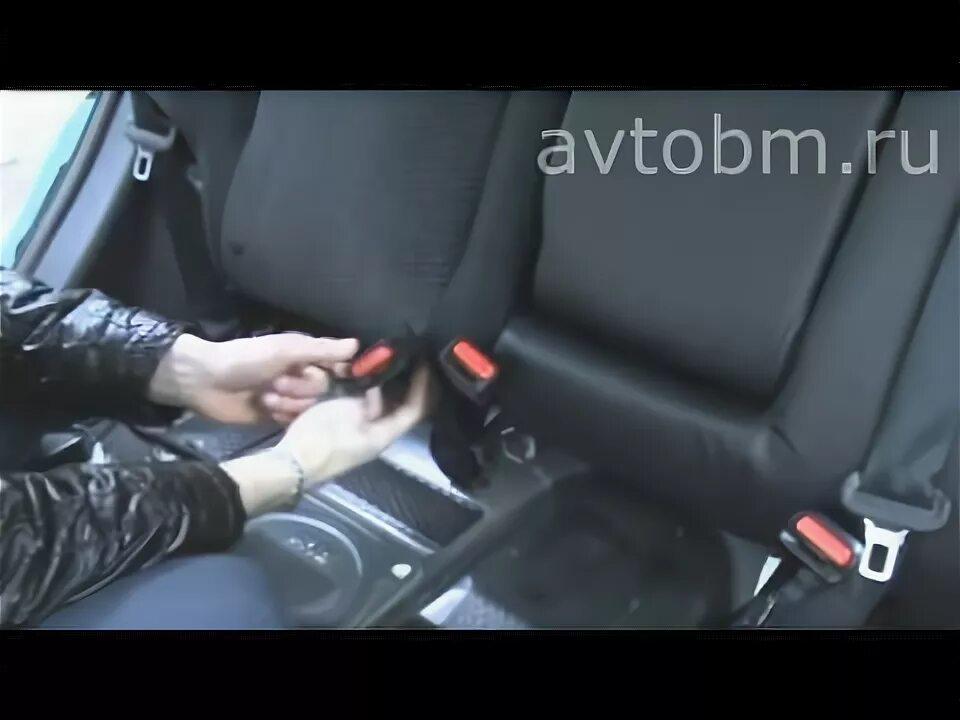 Демонтаж передних сидений на Nissan Qashqai I