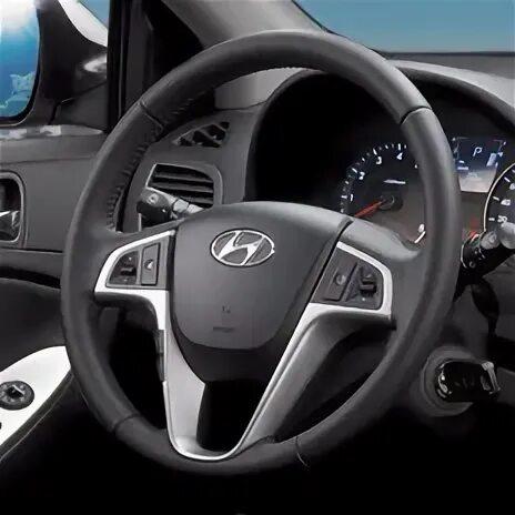 Сходит покрытие с кожаного руля Hyundai Solaris фото