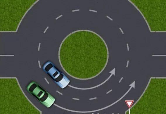 Проезд круговых перекрестков