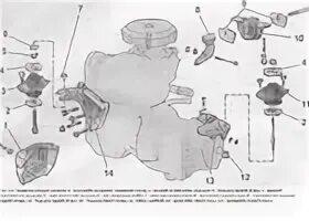 Как заменить подушки двигателя ВАЗ 2110
